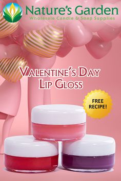 Free Valentines Day Lip Gloss Recipe by Natures Garden