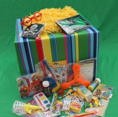 Boys Lucky Dip Box ...'the Lucky One!'  Why just have fun at the fair? A Lucky Dip Box with a gift for each child to choose at random as a party extra or instead of a party bag! Each present c...