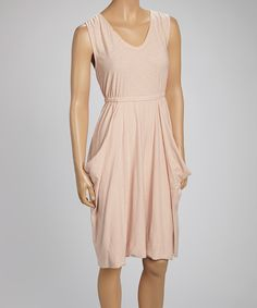 Look what I found on #zulily! Whitewash Blush Pouch Pocket Dress by Whitewash #zulilyfinds