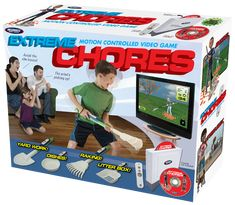 Extreme Chores races kids against the clock as they complete important household tasks like raking, doing the dishes, digging holes and emptying the litter box.  Exteme Chores promises to make chores fun!