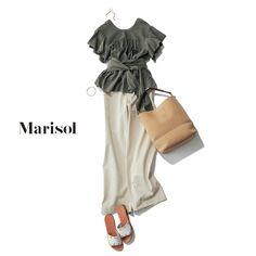お地味にならないワンツーコーデは女っぷりブラウス&パンツコーデ!【2018/5/23コーデ】|Marisol ONLINE|女っぷり上々!40代をもっとキレイに。