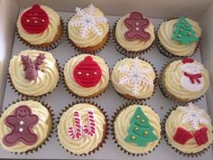 Cupcake Gift, Christmas Cupcakes, Gift Boxes, Work On Yourself, Stress, Collections, Seasons, Holiday, Desserts