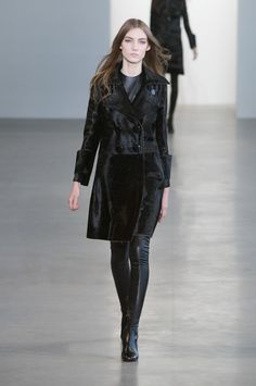 Efficient sophistication with a seventies vibe by Calvin Klein for AW 2015-2016. VELVET was everywhere. All the styles touched the edges. On the one hand very short looks and on the other hand too long. Over knee boots stole the impressions ,as they were the era appropriate shoes. The only certain is that,the past really is estimated. New York Fashion Week- Mercedes-Benz Fashion Week http://www.catwalkmag.com/gr/en/events/new-york-fashion-week-aw2015-2016/849/