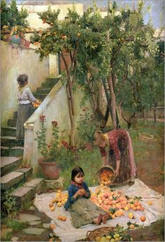 John William Waterhouse - The Orange Gatherers  Bridgeman Art Library  Image no.: 309933