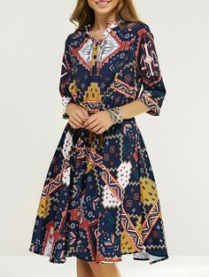 SHARE & Get it FREE | Printed High Waist 1/2 Sleeve DressFor Fashion Lovers only:80,000+ Items • New Arrivals Daily • Affordable Casual to Chic for Every Occasion Join Sammydress: Get YOUR $50 NOW!
