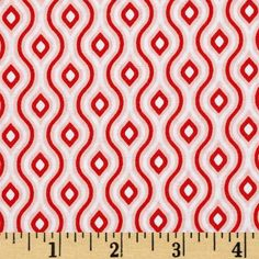 Riley Blake Lazy Day Diamond Red from @fabricdotcom  Designed by Lori Whitlock for Riley Blake Designs, this cotton print fabric is perfect for quilting, apparel and home decor accents. Colors include red, pale pink and white.