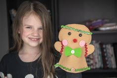 Quick & Easy Gingerbread Man Hand Puppet — Stubbornly Crafty Gingerbread Crafts, Gingerbread Man, Gingerbread Cookies, Christmas Sewing Projects, Male Hands, Hand Puppets, Craft Kits, Christmas Gifts, Crafty