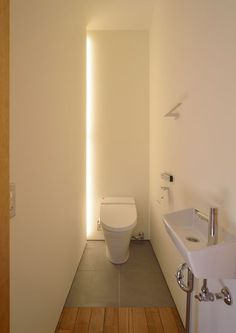 Impress Your Visitors with These 14 Cute Half-Bathroom Designs - Site Home Design Small Toilet Room, Guest Toilet, Downstairs Toilet, New Toilet, Bathroom Layout, Bathroom Interior, Modern Bathroom, Small Bathroom, Half Bathrooms