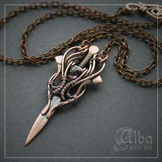 "Кулон-меч ""Цветок камалейника"" by Alba wire art"