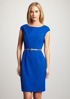 Cap Sleeve Sheath Dress (Ellen Tracy)