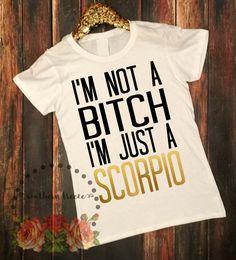 I'm Just a Scorpio tshirt www.southernbreezenc.com