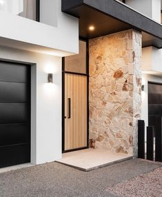 contemporary black and white exterior Modern Entry, Modern Exterior, Interior Exterior, Exterior Design, House Front, My House, House Entrance, Facade House, Modern House Design