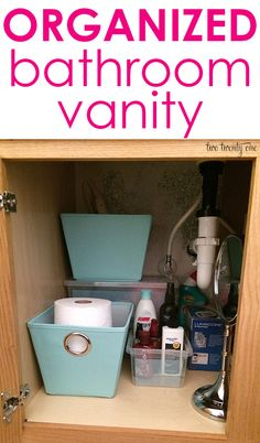 15 minute organization project: bathroom vanity!