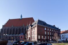 The church and the court in Nysa, Poland