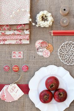 red+burlap: Use as idea kick starter for our branding— what everyday items evoke our brand?