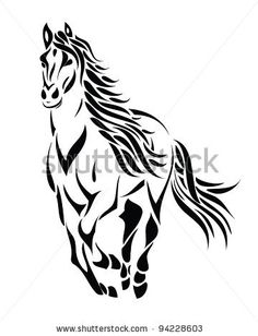 Gallery For > Mustang Horse Drawing Running