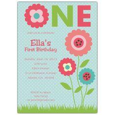 flower birthday party invitation