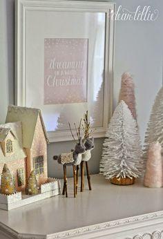 Dear Lillie: The Girls' Christmas Bedroom Christmas Bedroom, Pink Christmas, Christmas Home, Christmas Holidays, Christmas Crafts, Christmas Decorations, Holiday Decor, Dear Lillie, December 2014