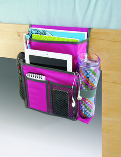 A bedside caddy is a perfect spot for the emergency candy stash for late nights.