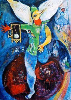 Marc Chagall - 'Le jongleur'  #marcchagall #Marc-Chagall #Chagall http://www.johanpersyn.com/chagall-cubist-colours/