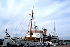 the Acadia exhibit at the Halifax waterfront