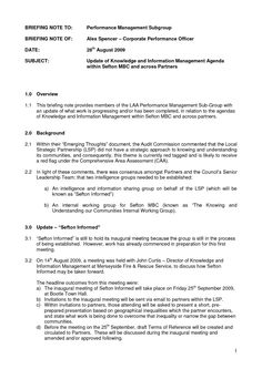 Briefing Note Example  Google Search  Professional Templates For