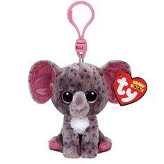 TY Beanie Boos Ellie the Elephant Keyring Clip