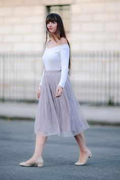 Tutu Style  #style #blogger #chic #paris  #fashion #summerstyle #tulleskirts  www.meetmeinparee.com