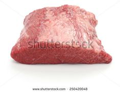 raw beef brisket isolated on white background