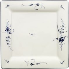 VILLEROY & BOCH Old Luxembourg square flat plate 27cm ($51) ❤ liked on Polyvore featuring home, kitchen & dining, dinnerware, floral dinnerware, square dinnerware, floral plates, villeroy & boch dinnerware and microwave safe plates