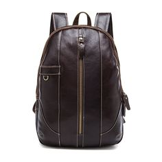 Hengsheng Cray Hose Brown Genuine Leather Men Backpacks With Top Quality Cow Layer Leather Man Backpack For Vintage Backpack Luggage & Bags