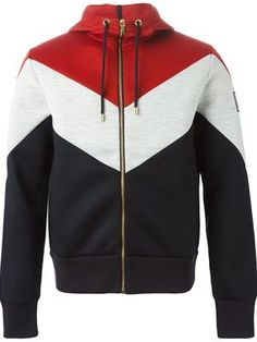 Shop Moncler Gamme Bleu color block zipped hoodie in Elite Sports Hoodies, Zip Up Hoodies, Mens Sweatshirts, Hoodie Jacket, Zip Hoodie, Mens Outdoor Jackets, Unique Hoodies, Trending Outfits, Street Wear