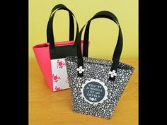 Gift box Punch Board Handbag - YouTube
