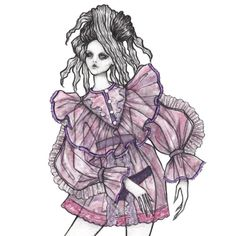 Marc Jacobs S17 by Issa Grimm #fashionillustration