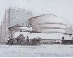 Original Drawing of Solomon R. Guggenheim Museum - New York - Frank Lloyd Wright