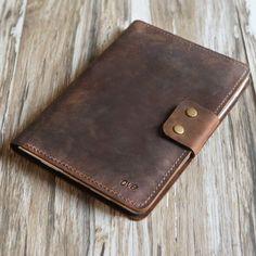 Personalized Leather 2019 iPad mini 5 / air / Pro / Retina Leather Portfolio Case w/ apple pencil holder - Gray Ipad Air 2 Cases, Ipad Case, Apple Pencil, Leather Folder, Portfolio Case, Refillable Planner, Leather Portfolio, Ipad Pro 12 9, Ipad Stand