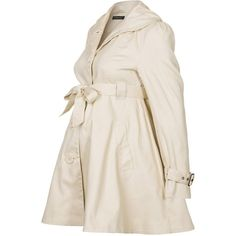 Mom2moM Trenchcoat (290 BRL) ❤ liked on Polyvore featuring maternity, coats, pregnant and beige