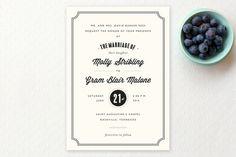 Bistro Wedding Invitations by Sara Hicks Malone at minted.com