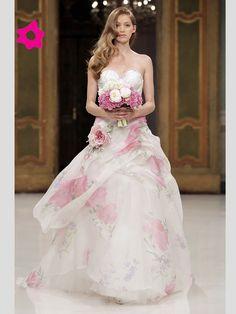 Abito da sposa colorato 2012 Atelier Aimee Montenapoleone.