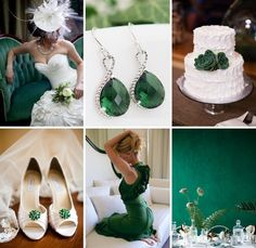 Emerald green looks amazing next to crisp white #wedding #inspiration