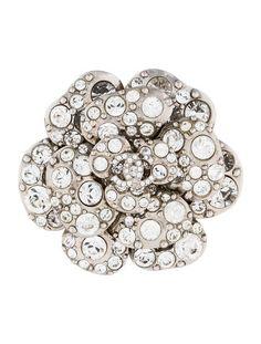 Chanel Crystal Camellia Brooch, 2012