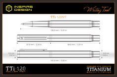 INSPIRS DESIGN-TTi-120 titanium roller pen-specifications
