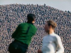 The Hillsborough Kop, an incredible sight packed with fans in 1970 for the FA Cup Semi Final between Leeds & Man Utd