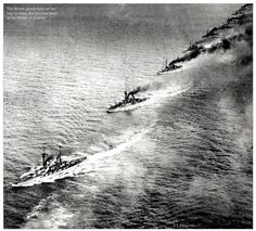 Grand Fleet on way to meet German Fleet Battle of Jutland.