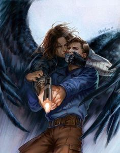 Pre-hydra Bucky (w/ the outfit from The First Avenger) overtaken by The Winter Soldier. My heart breaks. Marvel Dc, Marvel Fan Art, Marvel Heroes, Stucky, Winter Soldier Funny, Captain America And Bucky, James Barnes, Sebastian Stan, Bucky And Steve