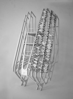 Orthoptera Silo - Structural model - Skin facade study Typology Architecture, Tectonic Architecture, Concept Architecture, Architecture Design, Structural Model, Deconstructivism, Invisible Cities, Arch Model, Architectural Models