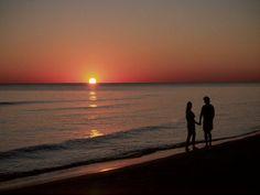 A walk along the beach at sunset......