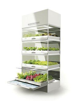 Le Nano Garden de Huyndai permet de cultiver dans sa cuisine les végétaux de son choix. – Nano Garden / Hyundai