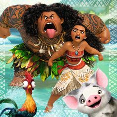 The entire movie is like this Moana: LISTEN TO ME Maui: HECK OFF Hei Hei: wut Pua: hai!!!