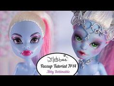 Faceup Tutorial №14 Abby Bominable Monster High repaint custom doll - YouTube